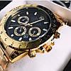Мужские металлические часы Rolex Daytona, Ролекс, золотий чоловічий годинник, фото 6