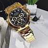 Мужские металлические часы Rolex Daytona, Ролекс, золотий чоловічий годинник, фото 5