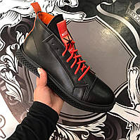 Мужские кожаные зимние ботинк мужская обувь чоловіче зимове взуття чоловічі  черевики GUCCI 7beb3dd3926ee