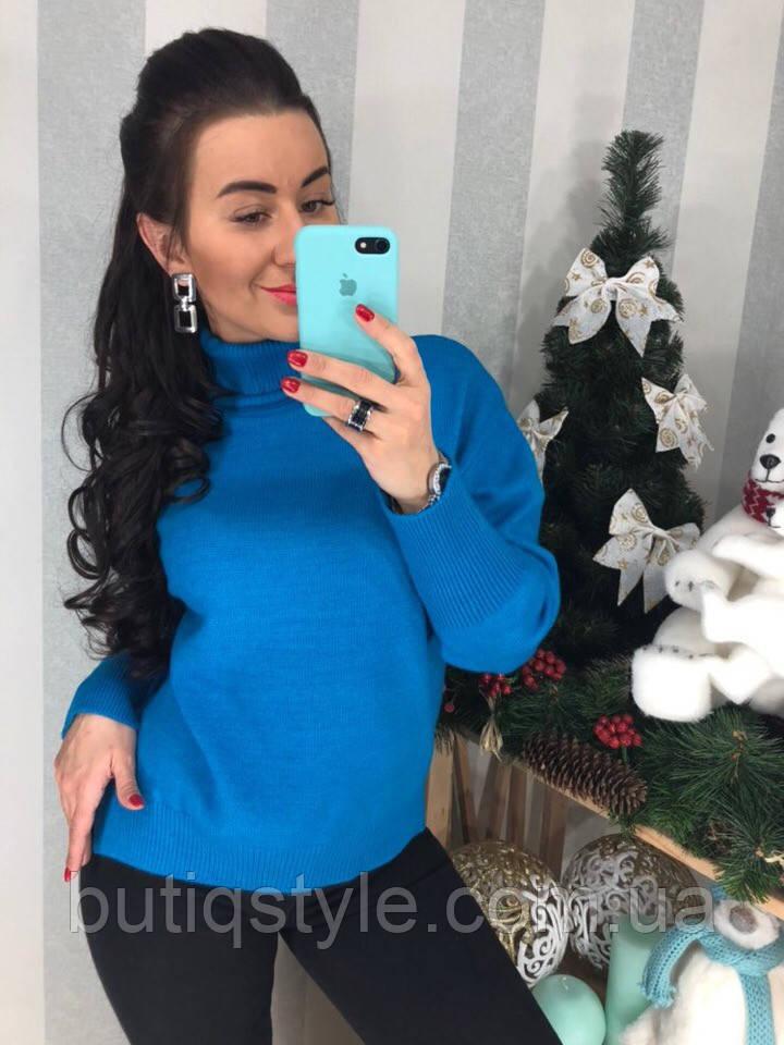 Стильный женский свитер из трикотажа