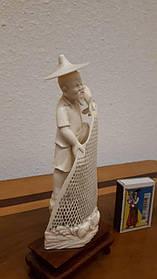 Статуетка Рибак Слонова кістка, Китай, 1950-ті роки