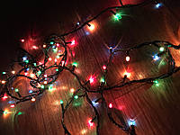 Новогодняя гирлянда 4м,140LЕD разноцветная (черный провод)Multi Function WLZ, фото 1