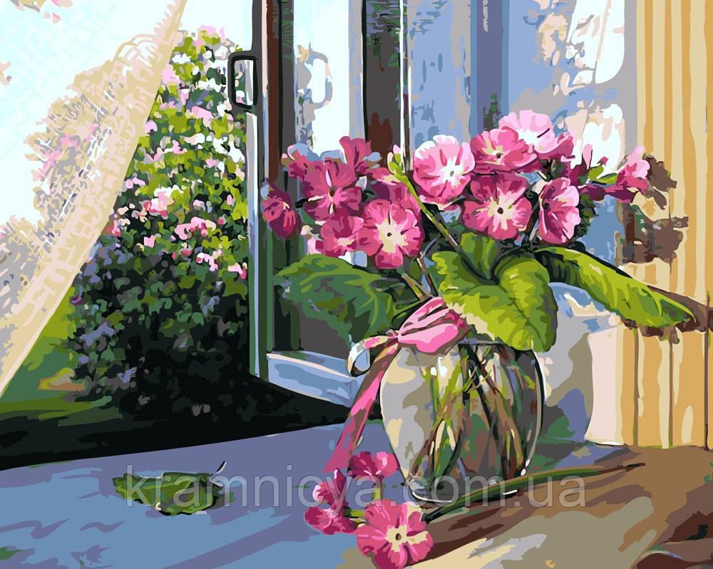 Картина по номерам 40х50 Цветы на подоконнике (GX5200)