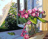 Картина по номерам 40х50 Цветы на подоконнике (GX5200), фото 1