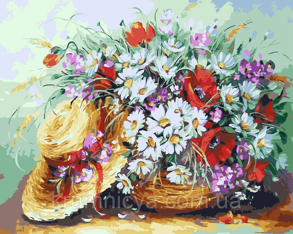 Картина по номерам 40х50 Букет из полевых цветов (GX4416)