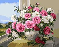 Картина по номерам 40х50 Пионы у окна (GX9418), фото 1