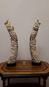 Дві статуетки Фенікс Слонова кістка,Китай, 1950-ті роки