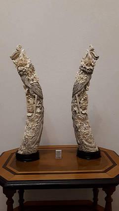 Две статуэтки Феникс  Слоновая кость,Китай, 1950-годы, фото 2
