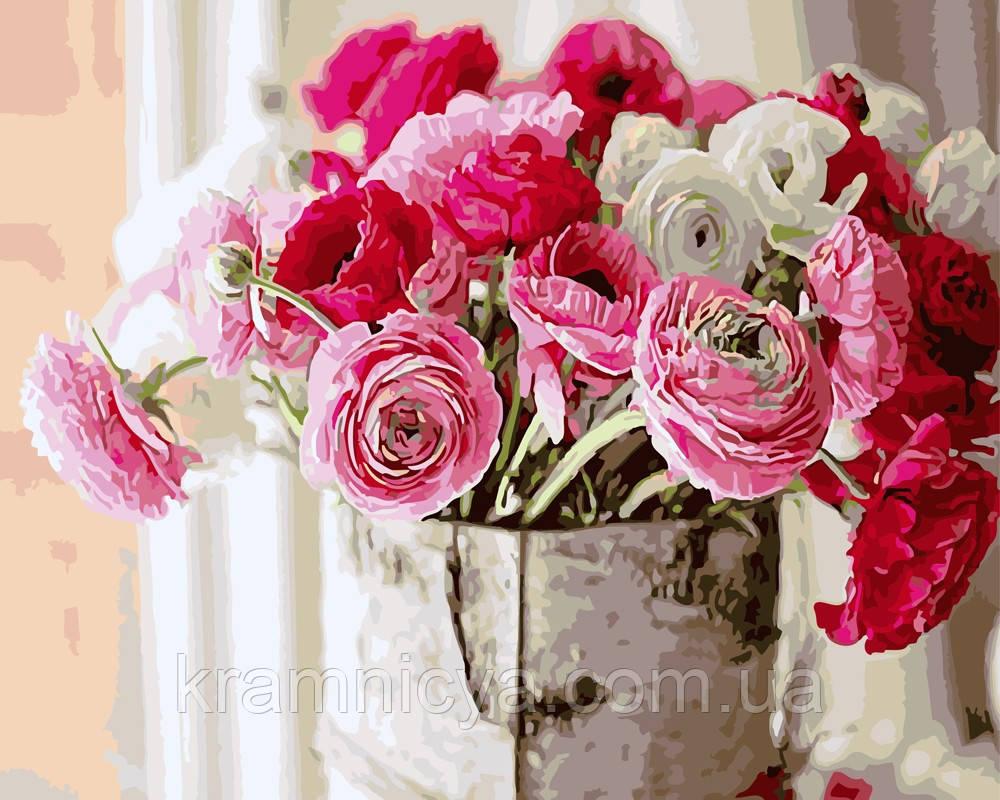Картина по номерам 40х50 Оттенки розового (GX5392)