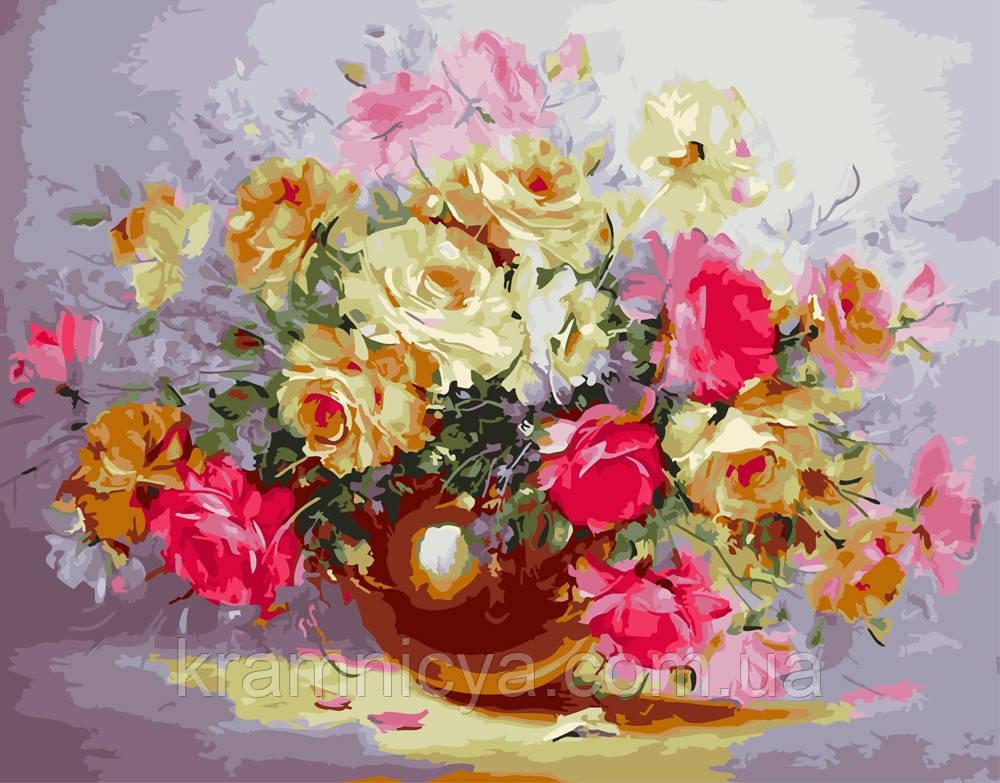 Картина по номерам 40х50 Нежность из роз (GX5832)