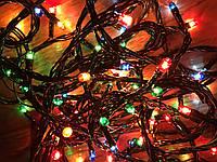 Новогодняя гирлянда 10м, 400LЕD разноцветная (черный провод) Multi Function WLZ, фото 1