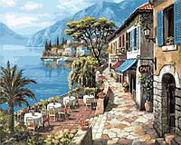 Картина по номерам 40х50 Кафе на набережной (GX8888), фото 1
