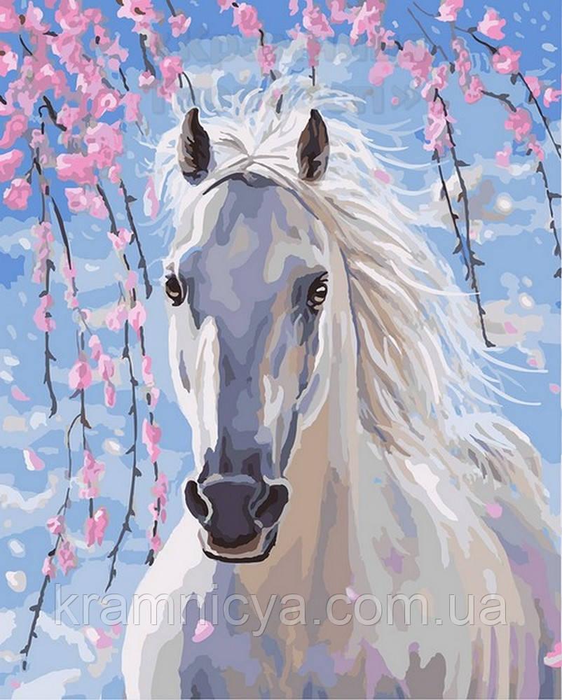Картина по номерам 40х50 Белый конь, Rainbow Art (GX8528)