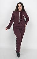 Женский спортивный ангоровый костюм с лампасом батал