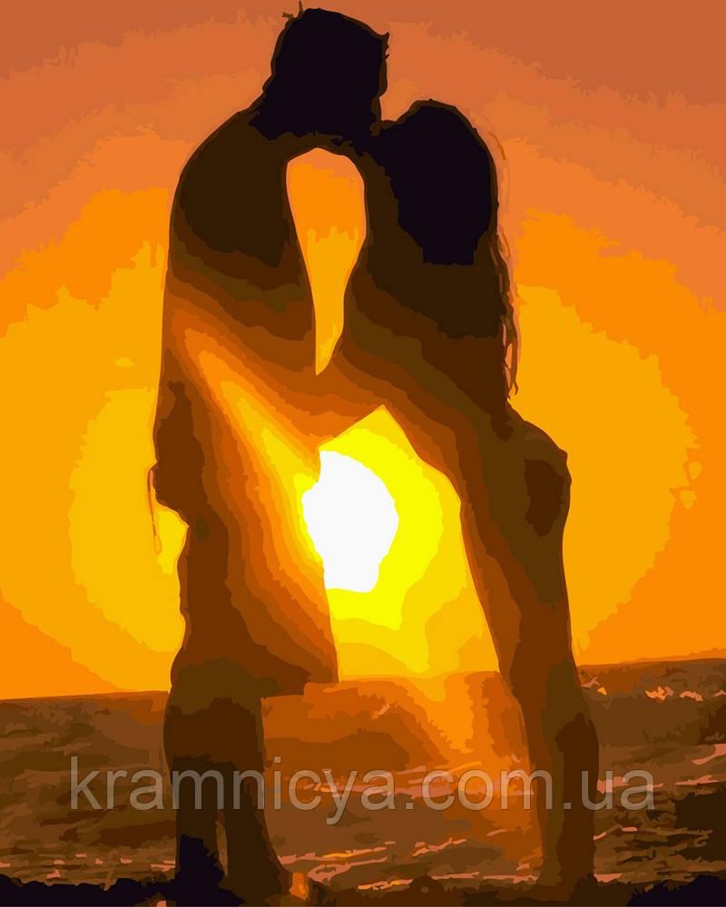 Картина за номерами 40х50 Поцілунок на заході (GX4834)