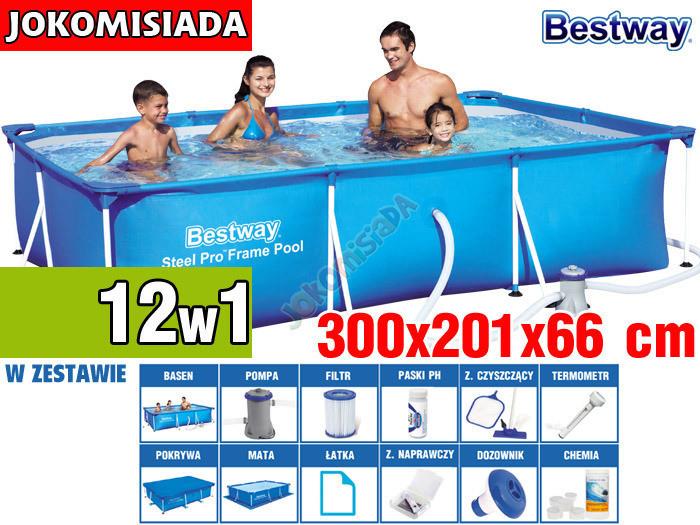 Бассейн каркасный BESTWAY 300x201 см