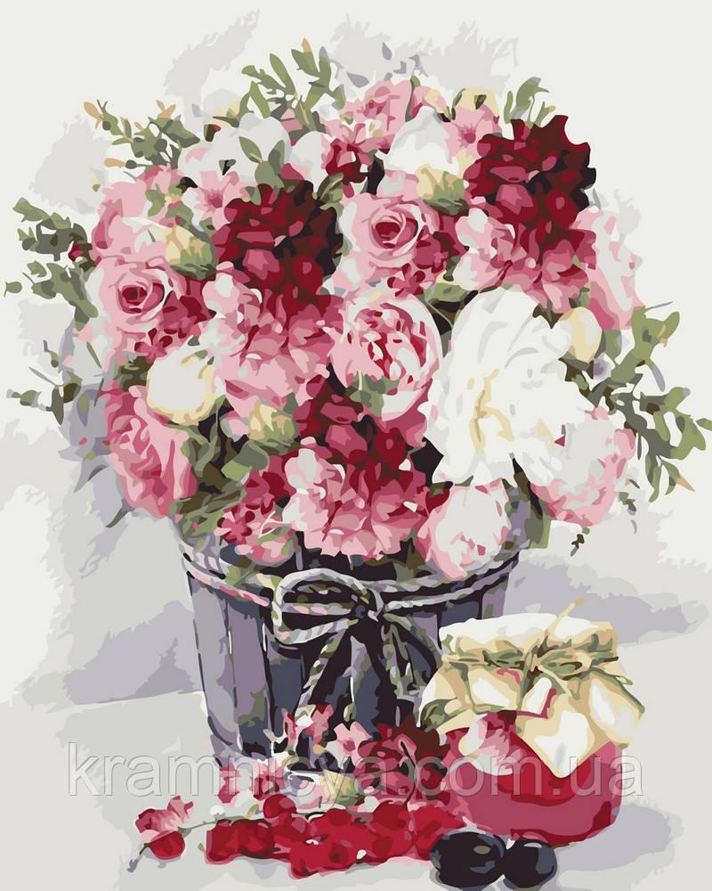 Картина по номерам 40х50 Натюрморт с малиновым вареньем (GX26063)