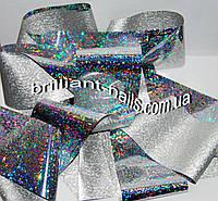 "Фольга №6, серебро голограмма ""Конфети"""