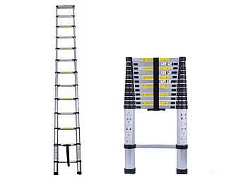 Лестница телескопическая алюминий 3.8 м, фото 2