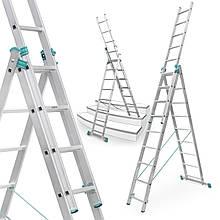 Лестница алюминий 3х9 ALVE 569 см