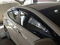 Дефлекторы окон (ветровики) HYUNDAI Elantra 2011-, 4ч, темный
