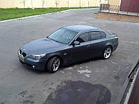 Дефлекторы окон (ветровики) BMW 5 Series 2003-(E60) хром