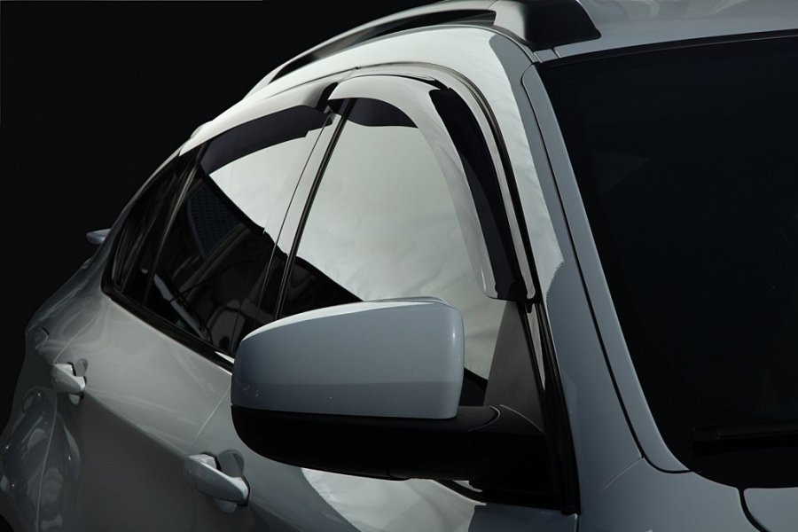 Дефлекторы окон (ветровики) KIA Picanto 11-, 4ч, темный