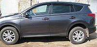 Дефлекторы окон (ветровики) Тойота RAV-4 2013-, 4ч. темный
