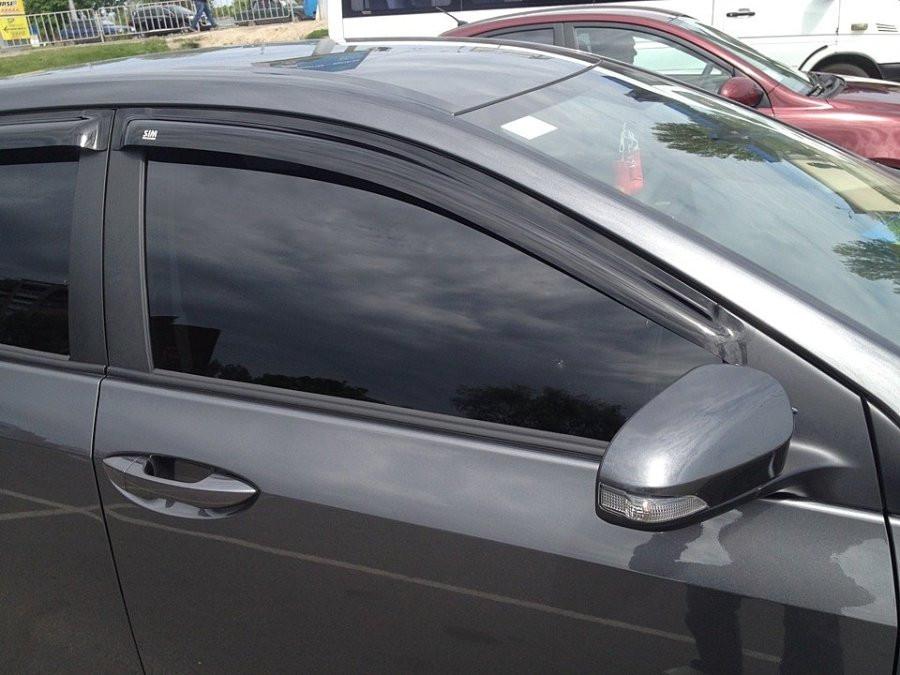 Дефлекторы окон (ветровики) Тойота COROLLA Sd 2013-