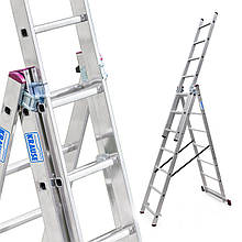 Лестница алюминий 3х7 KRAUSE CORDA 420 см