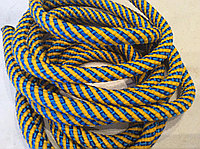 Скакалка для художественной гимнастики CUERDA RITMICA желто-голубая (Испания)