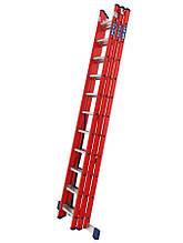 Лестница алюминий 3х13 BRIKS 920 см