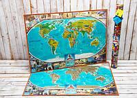 My Map Vintage Edition UA/RU/ENG (88х63), тубус: 71 см