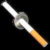 Сигарета сквозь монету