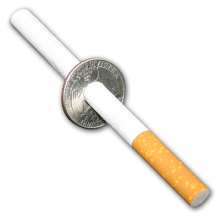 Сигарета сквозь монету, фото 1