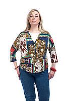 Женский пиджак- жакет большого размера
