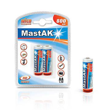 "Аккумулятор ""пальчиковый"" MastAK AA 1,2v 800mAh ( Ni-Cd )"
