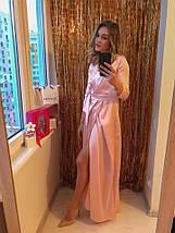 """Длинное шелковое платье-халат """"Джорджия"""" с четвертным рукавом (3 цвета), фото 3"""