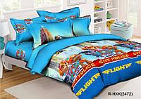 Комплект постельного белья Щенячий патруль , Ранфорс Кrispol голубой
