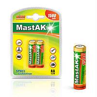 "Аккумулятор ""пальчиковый"" MastAK AA 1,2v 1500mAh ( Ni-Mh ), фото 1"