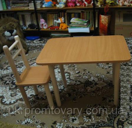 Столик и 2 стульчика, бук. Разная комплектация и цвета, фото 2
