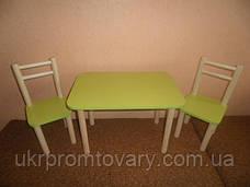 Столик и 2 стульчика, бук. Разная комплектация и цвета, фото 3