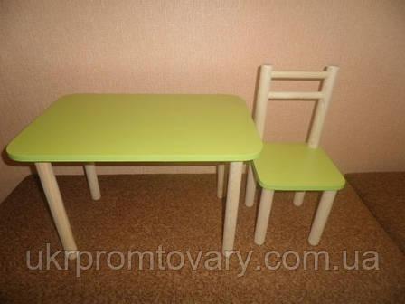 Один стул и стол, цвета разные: бук, лайм, голуб, лаванда, фото 2
