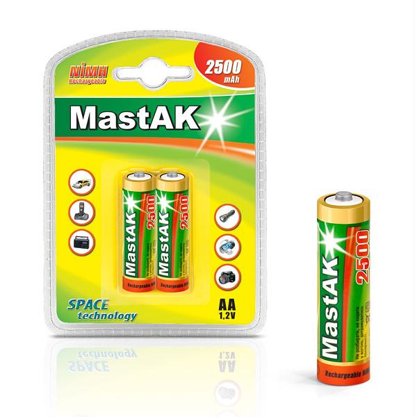 "Аккумулятор ""пальчиковый"" MastAK AA 1,2v 2500mAh ( Ni-Mh )"