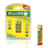 Аккумулятор мини-пальчиковый ААА Mastak 1,2V 1000mAh (Ni-MH)