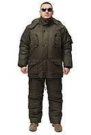 """Костюм зимний для рыбалки непромокаемый """"Хаки"""" -30 одноцветный (размер 48-50)"""