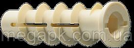 Дюбель для газобетону 14х70мм М10, поліамід