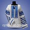 """Блуза - вышиванка """"Цветочное поле"""" на белом фоне, фото 2"""