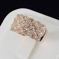 Головокружительное кольцо с кристаллами Swarovski и c позолотой 0441, фото 1