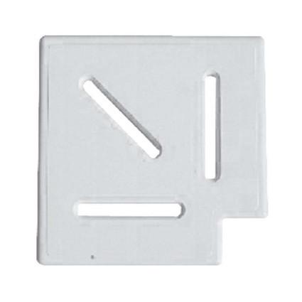 Netta Угловой элемент Netta Classic и Grift для переливной решетки 90° 245/25 мм  (белый)